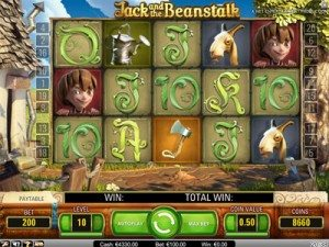 Jack and the Beanstalk videoslot