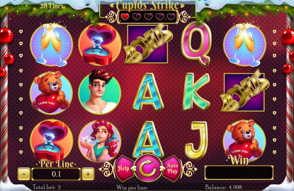 Cupids' Strike slot ReelTastic Casino