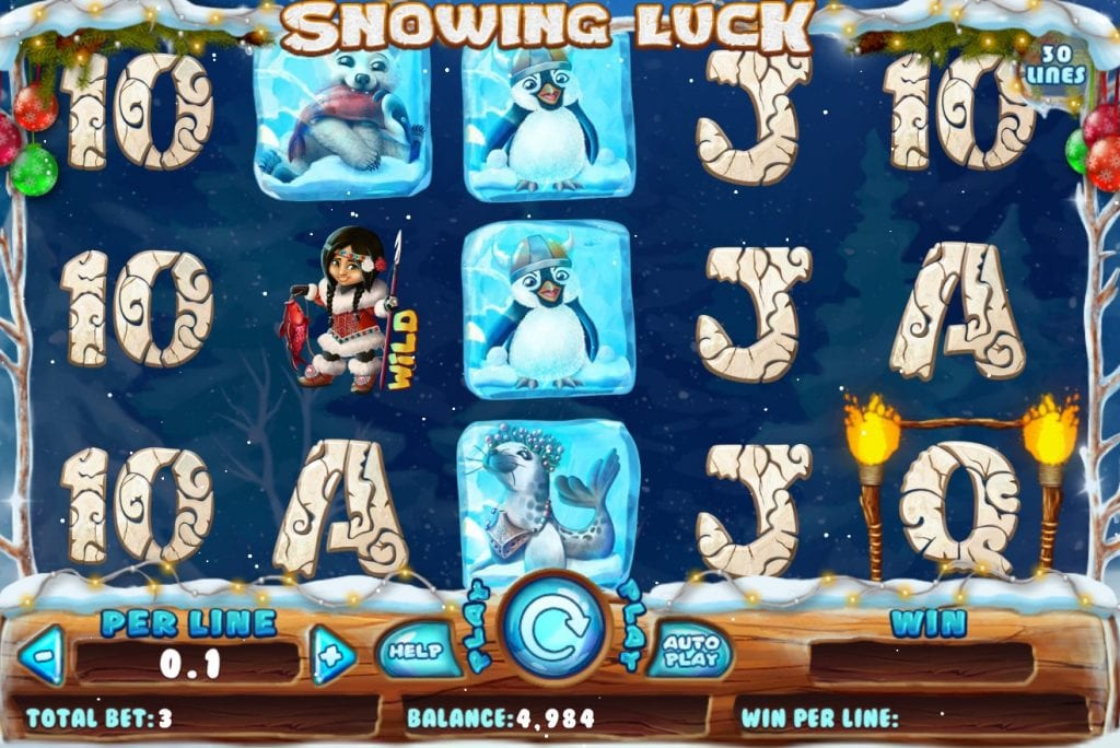 Snowing Luck slot ReelTastic Casino