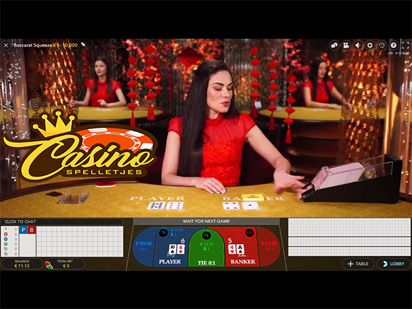 Live Baccarat Squeeze Lucky Days Casino