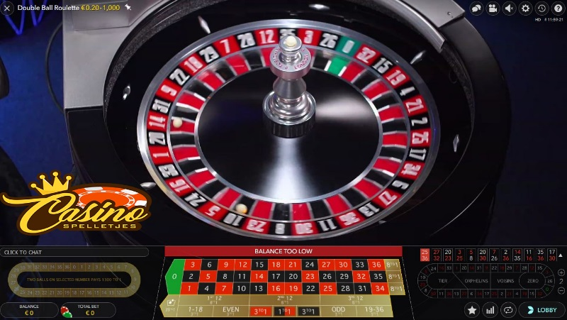 Live Double Ball Roulette Lucky Days Casino