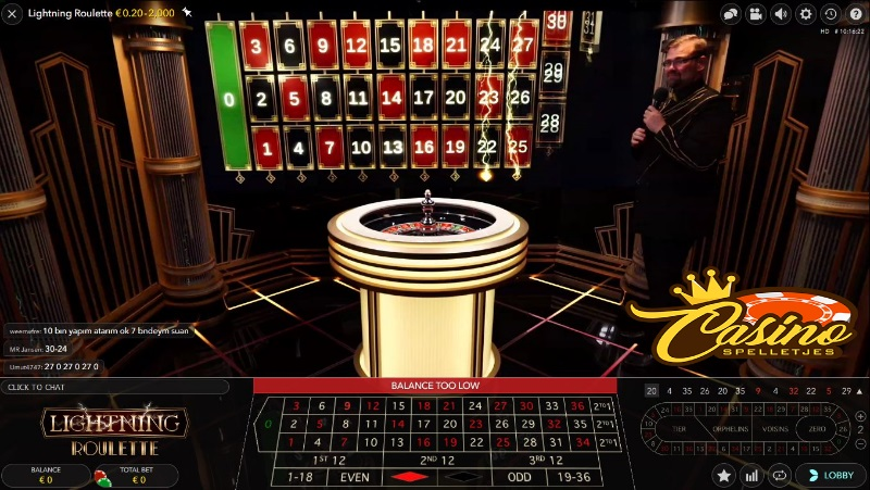 Live Lightning Roulette Lucky Days Casino