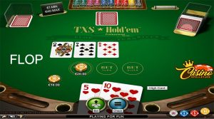 Texas Hold'em flop Turbo Casino
