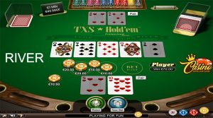 Texas Hold'em river Turbo Casino